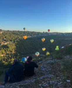 L Ostal de Benjamin Envol des montgolfières