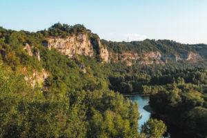 L Ostal de Benjamin Vallée de la Dordogne, point de vue de Mirandol