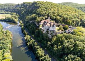 L Ostal de Benjamin Vue aérienne du Château de Cénevières